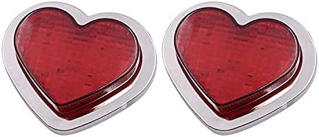 2PCS Max 69% OFF Red Heart Sale special price Shaped Side Accessory LED Marker Light Turn