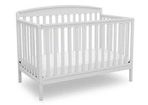 Delta Children Brayden 4-in-1 Convertible Crib, Bianca White with  Twinkle Stars Deluxe Crib and Toddler Mattress