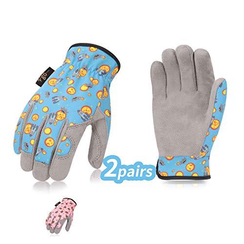 guanti da lavoro bambino Vgo 2 Paia per bambini di 4-6 anni