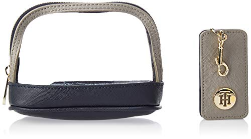 Tommy Hilfiger dames Honey Make Up Bag W Keyfob schoudertas, grijs (Grey Metallic Mix), 11x16x7,3 cm