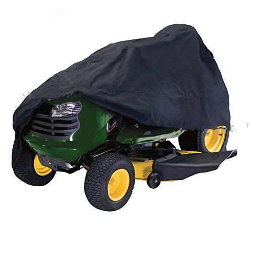 Rasenmäher-Abdeckung, Rasentraktor-Abdeckung Wasserdichter Oxford-Stoff für schwere Beanspruchung Wasser- und UV-Mehltau, staubdicht für Garten-Outdoor-Schutzhülle(L,Black)