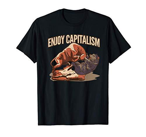 Aktien & Börse ein Geschenk Geschäftsmänner. Bulle vs Baer T-Shirt