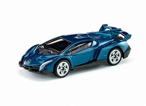 siku 1485, Lamborghini Veneno, Metall/Kunststoff, Spielzeugauto für Kinder, Dunkelblau, Bereifung aus Gummi