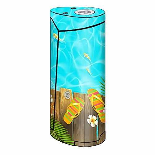 Skin Decal Vinyl Wrap for Smok Priv V8 60w Vape stickers skins cover/ Flip Flops and Fish Summer