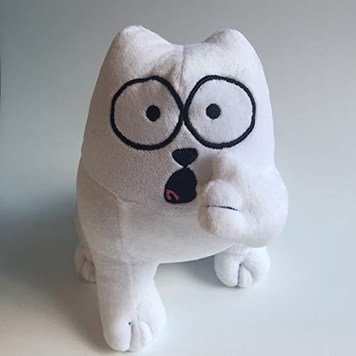 Loffer1 Peluches,Personaje de Dibujos Animados Anime White Simon Cat Toy Doll, graduación Creativa y Regalo de cumpleaños para niños