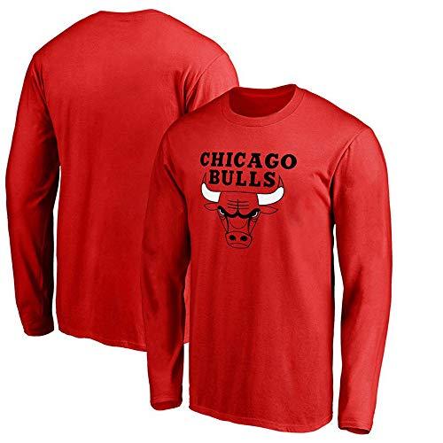 Herren Basketball NBA Jersey Chicago Bulls T-Shirt Langarm Bekleidung Für Jugend Sweatshirt S-XXXL Red-XXL