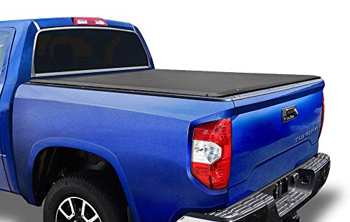 Tyger Auto T1 Soft Roll Up Truck Bed Tonneau Cover Compatible with 2014-2021 Toyota Tundra (Does Not Fit Trail Special Edition with Storage Boxes) | Fleetside 5.5' Bed | TG-BC1T9041 , Black