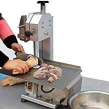 Electric Bone Saw Machine - Commercial Electric Meat Band Saw Bone Saw Machine/Cutter Heavy Duty Frozen Meat Frozen Fish Steak Cutting 650W Home Kitchen Stainless Steel