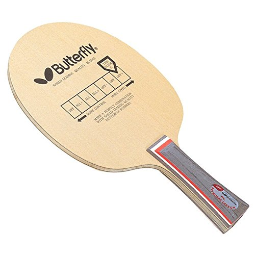 Butterfly Primorac Carbon Fl Table Tennis Ply Blade (Brown)