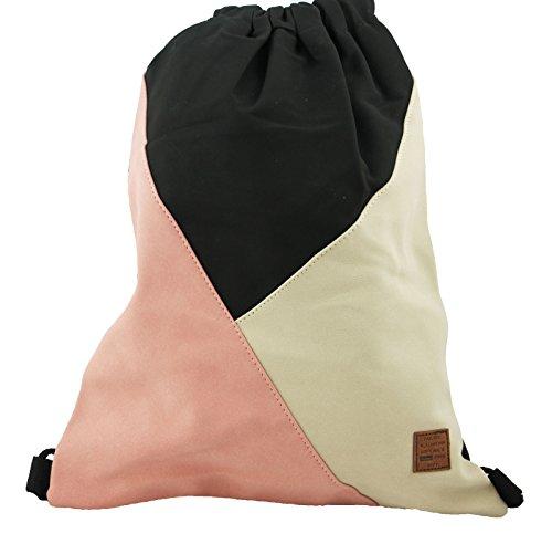 Gym Bag Style rosé in coolem Patchwork-Design Sport-, Turnbeutel, Rucksack, Daypack
