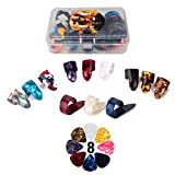 Thumb Finger Picks Plectrum With Plastic Picks Case, 1 Dozen (3 Pairs) SUNLP Celluloid Guitar thumb finger picks Mandolin Banjo thumb finger...