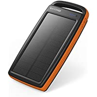 RAVPower 20000mAh Portable Dual USB Solar Charger Power Bank
