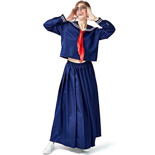 Halloween volwassen Fancy jurk kostuums, kostuums Halloween kinderen Cosplay Halloween partij, college Wind lange rok lange mouwen Sailor Suit, Tibetaanse blauwe zeeman pak