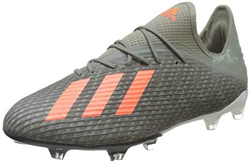 adidas X 19.2 Firm Ground Cleats, Zapatillas de Fútbol para Hombre, Verde (Legacy Green/Solar Orange/Chalk White), 44 EU