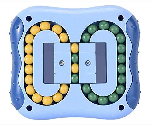 Relieve Stress Rubik Cube Bean Dedo Juguetes Para Niños / Adultos Juguetes Educativos Descompresión Rotating Magic Bean Rubik Cube Rlieves Juguete Para El Estrés Y La Ansiedad Coordinación Azul oscuro