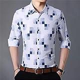 HDDFG Camisas a cuadros para hombre, otoño, con botones, manga larga, informal, camisa social, oficina de negocios, talla grande 7XL (Color : A, Size : 4XL code)