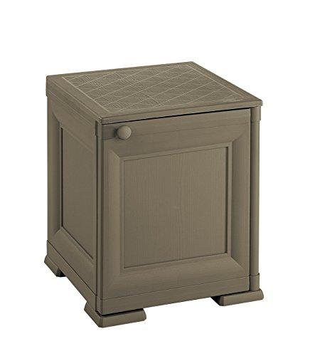 Tontarelli 8085562909 Coffre/Table de Chevets Porte Pleine Omnimodus Plastique Chocolat