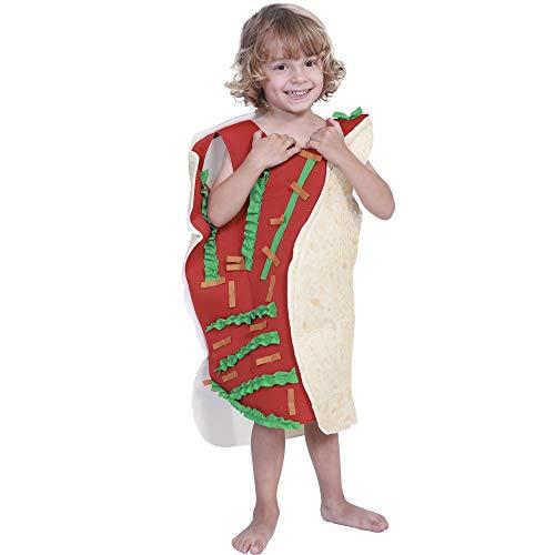 gousheng Disfraz De Cos Disfraz De Halloween Comida Burrito Disfraz NiñOs ActuacióN Conjunto Escenario Comida DecoracióN Disfraz