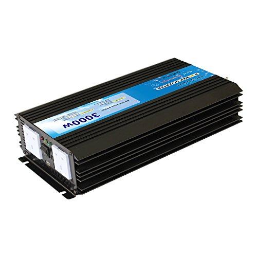 3000 W 12 V inversor de corriente para guardar las conversiones 12 V DC de salida de batería a 240 V de corriente electricidad, para coches, barcos o apagado-Grid sistemas de alimentación de corriente, de emergencia Prime back up fuente de alimentación