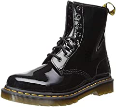 Retains classic Doc's DNA, including grooved sides, heel-loop and yellow stitching Built on the iconic Dr. Martens air-cushioned sole, which is oil and fat resistant, with good abrasion and slip resistance