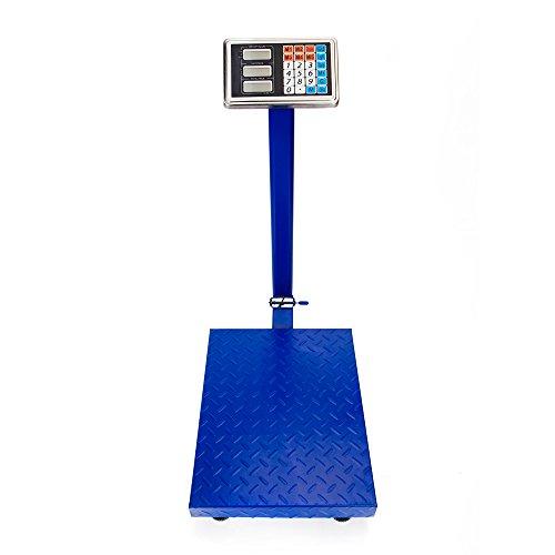 300kg/100g Heavy Duty Folding Digital Platform Postal Parcel Scales, Industrial Scales LCD Digital Floor Postal Platform Scale for Luggage Package Price Computing Postal Shipping Mailing UK STOCK