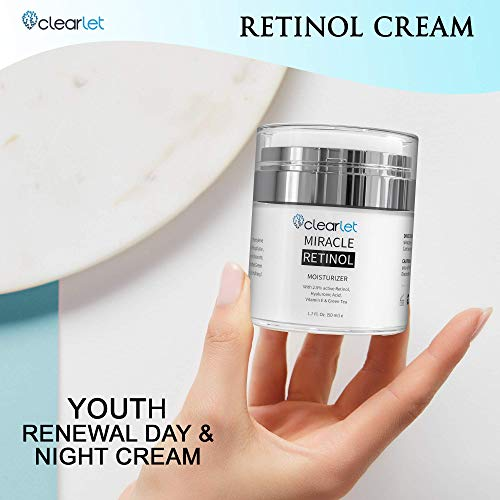 417f5p3C2FL - Retinol Cream for Face Moisturizer for Women Men Anti Aging Face Wrinkle Cream Retinol Facial Eye Cream Reduces wrinkles Fine Lines Day Night Facial Creams Retinoid Mens Retinol Moisturizer for Face