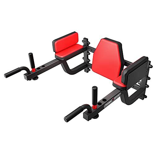 Marbo Sport Klimmzug Dip Station zur Wandbefestigung mit verstellbaren Griffen Bauchmuskeltrainer Bauchtrainer MS-D101