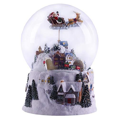 haohaiyo LED Schneekugel,Musical Rotating Santa Claus with Train Christmas Snow Globe Weihnachtsgeburtstagsgeschenke Für Kinderjungen Und -mädchen
