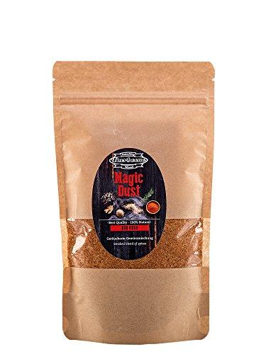Axtschlag BBQ Rub Magic Dust, für einen einzigartigen Geschmack von Fleisch, Fisch und Gemüse, 250g Trockenmarinade, wiederverschließbar