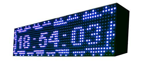 Cartel LED programable USB + WiFi con Sensor de Temperatura y Reloj 64
