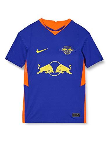 NIKE Rblz Y NK BRT Stad JSY SS AW T-Shirt, Unisex niños, Concord/OPTI Yellow Full Sponsor, XL