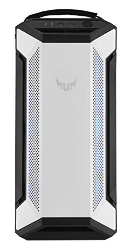 ASUS TUF GT501 White Gaming Gehäuse (bis zu E-ATX, 120mm RGB-Lüfter, 140mm PWM-Lüfter, USB 3.1 Gen 1) weiß