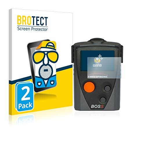 BROTECT 2X Entspiegelungs-Schutzfolie kompatibel mit Swissphone Boss 910 Displayschutz-Folie Matt, Anti-Reflex, Anti-Fingerprint