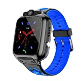OVV Kids Smartwatch Phone with WiFi/LBS Tracker for Girls Boys with IP67 Waterproof SOS Call Camera Touch Screen Game Alarm Children Digital Wrist Watch Gift Electronic Watch Toys (Blue)
