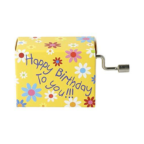 mugesh Spieluhr Happy Birthday to You - Blüten - Schönes Geschenk für Musiker