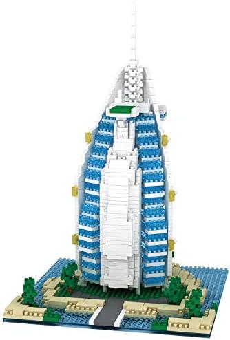 dOvOb Architecture Burj Al Arab Jumeirah Hotel Micro Blocks Set Dubai Landmarks 3D Puzzle Toy product image