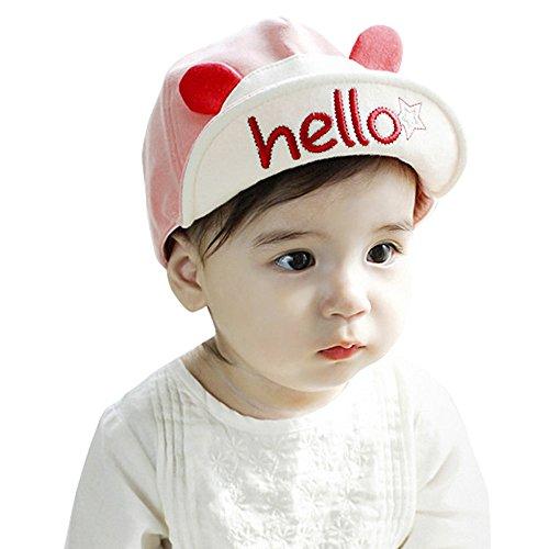 Allence Baby Outdoor - Gorra de béisbol para otoño e invierno, Rosa., talla única