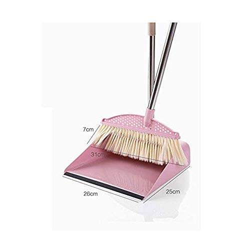 Household Hand Brooms Broom and Dustpan Lobby Broom and Dustpan with Handle Solid Handled Dust Pan- Stand Up Design- Accommodates Any Broom Hand Brush- Best Dustpans for Home Lobby Shop