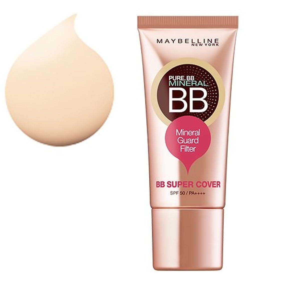 ミニ調和のとれた少なくともメイベリン BBクリーム ピュアミネラル BB SP カバー 01 ナチュラル ベージュ