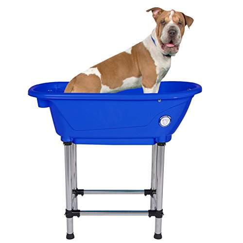 "Flying Pig Pet Dog Cat Portable Bath Tub (Royal, 37.5""x19.5""x35.5"")"