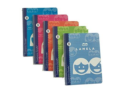 Cuadernos Pequeños (A5) / 40 hojas, 3mm, Colores Surtidos (Paquete de 5)