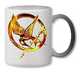 Nomorefamous The Hunger Games Golden Eagle Art Heat Colour Change Mug Magic Tazza