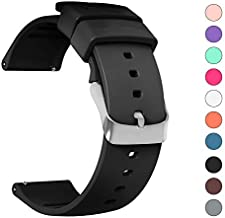 IELIELE Compatible 20mm Watch Band, Waterproof Replacement Wristbands Straps for Samsung Gear S2 Classic/Withings (Nokia) Steel HR 40mm/ Galaxy Watch 42mm (Black,20mm)