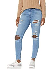 """These Skinny Jeans for Women Come With a Zipper Closure High Rise Ripped Jeans for Women: Sits Above Waist Slim through Hip and Thigh Inseam for Women's High Rise Skinny Jeans: 28"""" (Short); 30"""" (Medium); 32"""" (Long) Front Rise: 10""""; Back Rise: 14"""""""