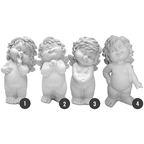 Engel Igor - engelfiguur - engel staand 24 cm (4 modellen) - beschermengel, talisman, geluksbrenger of tuinfiguur cadeau voor alle gelegenheden 24 cm wit