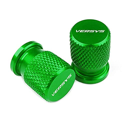 2X Tapas de VáLvulas de NeumáTico de Moto Compatible con Versys 650 1000 X300 VERSYS, Aluminio Valve Caps para Moto