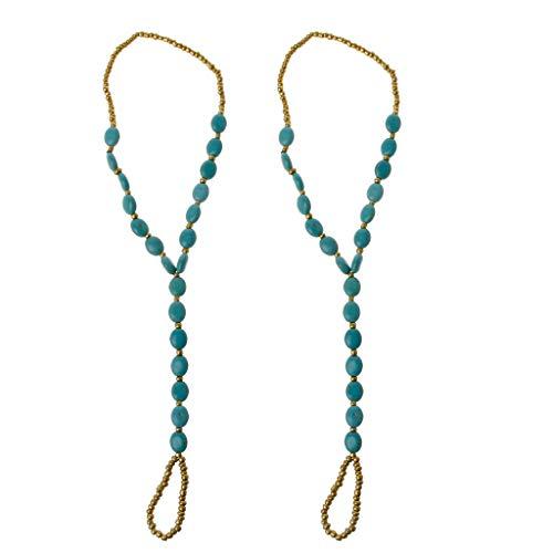 ciriQQ - Cadena de tobillo con perlas para la playa, boda, pie, joyería para pies descalzos, cadena de tobillera, para mujer, cumpleaños, hombres, mamá, amiga, caja de regalo