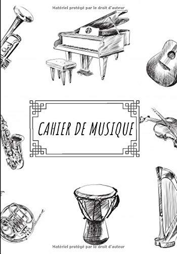 Cahier de Musique: : Carnet de partitions / 12 portées par page / 100 pages / pour tous les musiciens, débutants ou professionnels, enfants comme ... le solfège, la théorie musicale ou composer/