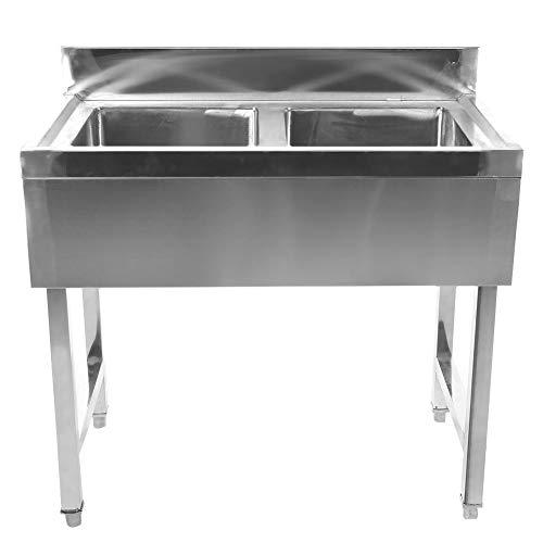 Single Bowl Edelstahl Handwaschbecken, Anti-Rost-Spülbecken, Restaurant für Home Bar Küche