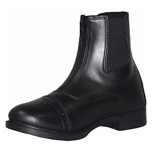 TuffRider Children's Starter Lite Front Zip Paddock Boots, Black, 2